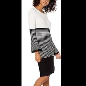Jack by BB dakota black white stripe knit dress